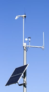 A solar-powered weather station